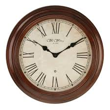 solid wood wall clock walnut fenchurch 40cm roman