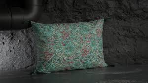 coussin imprime coussin caravane coton imprime papilio turquoise