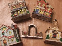 snow village halloween dollar tree christmas village come look you might be
