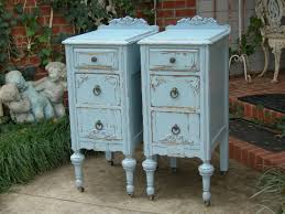 shabby chic nightstands antique distressed furniture bedside