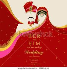 wedding invitation card templates indian man stock vector