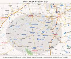 map of counties in ohio ohio amish country area map information