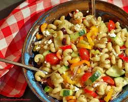 greek pasta salad meatless monday the saucy southerner
