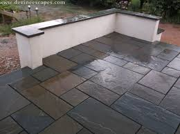 stone paver patio cost masonry porch flagstone versus pavers cost and value devine