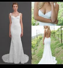vintage summer wedding dresses 2014 vintage white may lace wedding dresses spaghetti