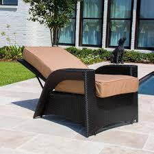 Patio Furniture Wicker Resin - providence resin wicker patio reclining chair by lakeview outdoor