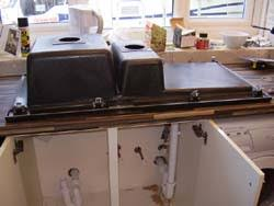 Fitting A Kitchen Sink  DIY Guide To Cutting Kitchen Worktops To - Fitting a kitchen sink