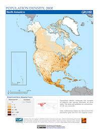 Maps North America by Maps Population Density Grid V1 Sedac