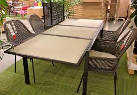 ikea outdoor table and chairs irresistible natural wooden dining table set presenting four dining