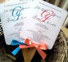 fan wedding programs template template fan program template rustic wedding programs