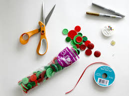 upcycle buttons to make a christmas ornament how tos diy