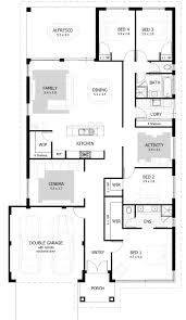 Four Bedroom House Plans One Story 100 1 Story House Plans One Story Floor Plans One Story