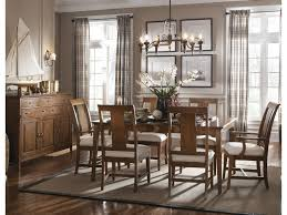 kincaid dining room furniture design center kincaid furniture cherry park seven piece rectangular leg table