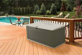 amazon com rubbermaid deck box with seat extra large 120 gal