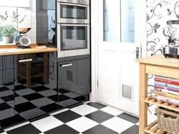 Tiles For Kitchen Floor Ideas - miraculous small modern black and white kitchen floor my home