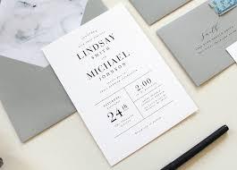 Catholic Wedding Invitation Modern Marble Wedding Invitations Tied U0026 Two