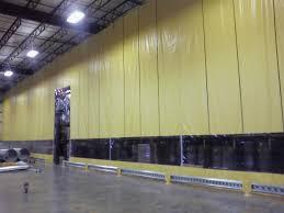 industrial room dividers curtain walls industrial partitioning carolina material handling