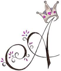 a initial with princess crown by metacharis on deviantart