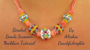 beaded beads necklace images Beaded beads summer necklace tutorial jpg