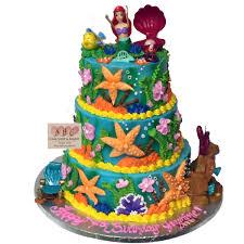 1806 3 tier little mermaid birthday cake abc cake shop u0026 bakery