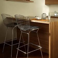 Chrome Bistro Chairs Furniture Bar Stools With Cushion Seat Wooden Stool Back Bistro