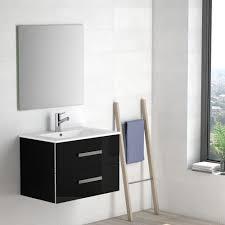 eviva astoria 28 black modern bathroom vanity with white