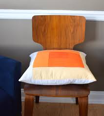 Orange Home Decor Cheering Up Orange U0026 White Quilted Pillow Cover Home Decor
