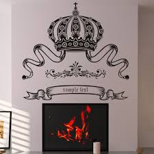 make own wall stickers all about fancy crown custom badge artwork sticker wall decal over built