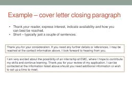 good closing a cover letter example 50 in best cover letter