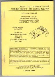 tm 11 5855 301 12 u0026p operator u0027s and unit maintenance manual light