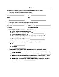 worksheet naming ionic compounds general science questions unit