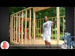 how to build a small storage shed youtube