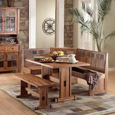 breakfast nook table with bench rustic oak slate collection rustic oakbreakfast nook set 0219ro