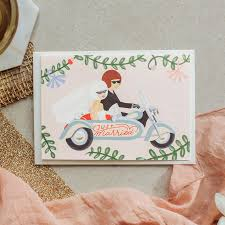 Just Married Cards Just Married Motorcycle By Wild Wagon Co