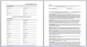 wedding photography contract template photography contract