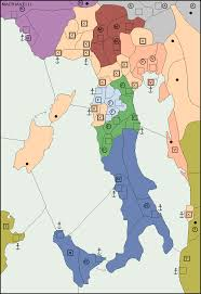 Renaissance Italy Map by Machiavelli
