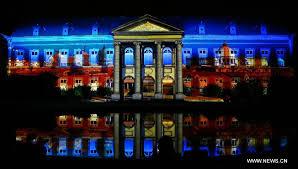 3d light show highlights of 3d light show in brussels xinhua english news cn