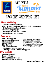 Grocery Shopping List Template Aldi Grocery List Grocery List Template