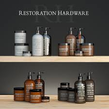 Restoration Hardware Bathroom Furniture by Soap And Lotion Collection By Restoration Hardware 3d Model Max Fbx