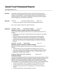 Example Student Resumes Very Good by A Good Summary For A Resume Free Resume Example And Writing Download