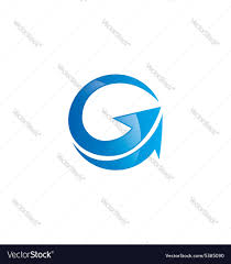 g letter arrow abstract logo royalty free vector image