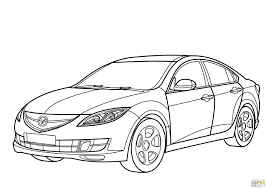 mazda line mazda 6 sedan coloring page free printable coloring pages