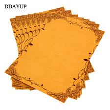 brown writing paper online get cheap letter writing paper aliexpress com alibaba group 8pcs pack vintage writing paper flower and leaf kraft letter paper europe style papel carta