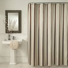 Grey And Yellow Bathroom by Brown Vertical Stripped Shower Curtains Sets For Painted Grey