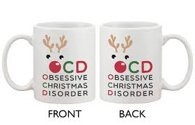 amazon com funny christmas coffee mug ocd obsessive christmas