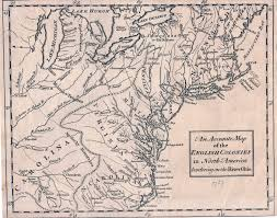 Map Of New England Colonies by 1750 To 1754 Pennsylvania Maps