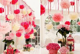 home decoration materials 2018 paper pompoms tissue paper pom poms wedding party baby living