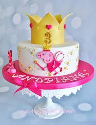peppa pig birthday cakes princess peppa pig cake cakecentral
