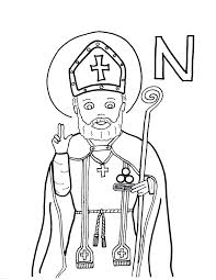 st nicholas coloring page coloring for kids 10636