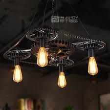 Ebay Ceiling Light Fixtures by Vintage Led Industrial Gear Chain Droplight Pendant Lamp Ceiling